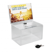 Suggestion box with header and lock