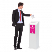 Floor Standing Ballot Box with model