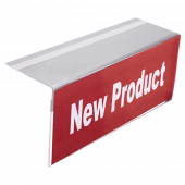This Right Angled Shelf Talker is a self adhesive shelf label holder