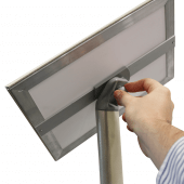Adjustable orientation signage stand