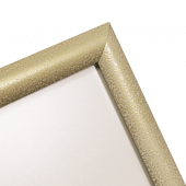 Mitred corner snap frame signage stand - White Pearl