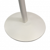 Curved signage stand with sturdy base (White Pearl)