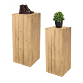 Wooden Plinth Display Set with props