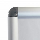 Silver Snap Frame 25mm round corner