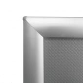 Snap Frame Silver 25mm Frame Counter Standing corner