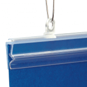 Plastic poster hangers for use with poster grippers (supplied separately)