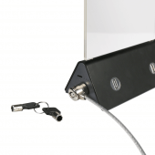 Security cable lock prevents menu holders from theft