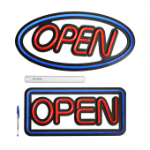 Premium LED Open Sign Neon Effect - Oval and Rectangle