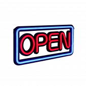 LED neon open sign rectangle