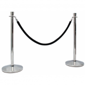 Use VIP rope with barrier poles or rope barrier eye plates