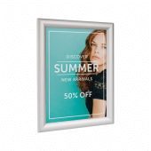 Use with outdoor waterproof posters with snap frames