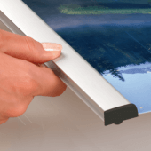 Aluminium Poster Gripper for suspended signs
