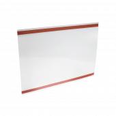 Adhesive ticket holder - landscape orientation