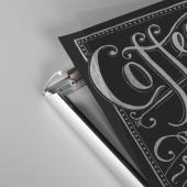 Chalkboard sheets for poster frames