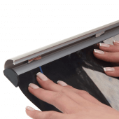 Aluminium Ceiling Poster Gripper with snap shut mechanism