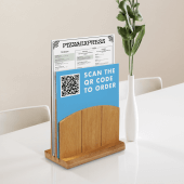 Wooden Menu Holder for use in pubs, cafes and restaurants
