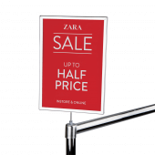 Screw in Rail Card Holder, makes an ideal clothing sale sign