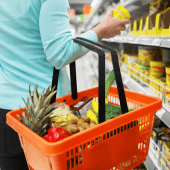 Plastic Shopping Basket ideal for supermarkets
