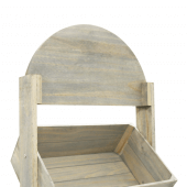 Wooden Crate Display Stand with header space