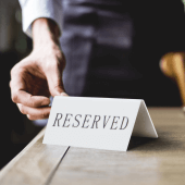 Reserved signs are ideal for table reservations in cafes and restaurants