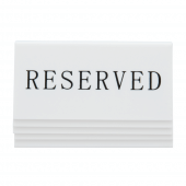 Each pack includes five reserved signs for tables