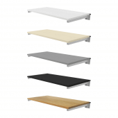 Slatwall Shelving with Brackets all colours