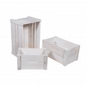 White Display Crates Set of 3