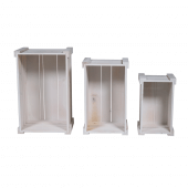 White Wooden Crates (stackable)