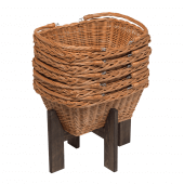 Wicker Shopping Baskets x 5