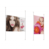 Wall Mounted Rod Poster Kit in situ