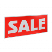 Ceiling Sale Sign Hanging