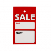 Was and Now Sale Label