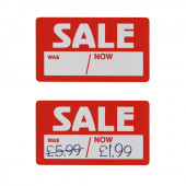 Sale stickers with sale prices