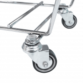Shopping Basket Stacker with wheels for easy movement