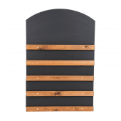 Sliding Display Chalkboard available with or without a branded header