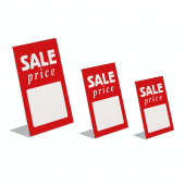Sale Sign Insert in use