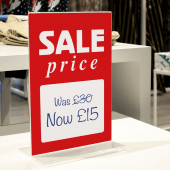 Sale Sign Insert to promote your sales