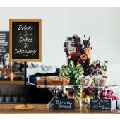 Wood sign holder stand for countertop displays