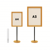 Size comparison between A4 and A3 sizes