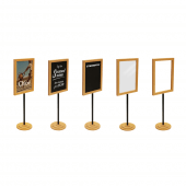 Choose to add a variety of inserts, including chalkboards and posters