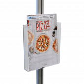 A4 sized leaflet holder on the lectern display stand