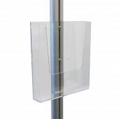 A4 acrylic leaflet holder on aluminium display stand