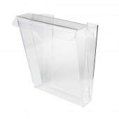 Acrylic Outdoor Leaflet Holder front angled