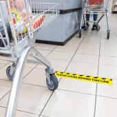 Social Distancing Floor Queue Stickers