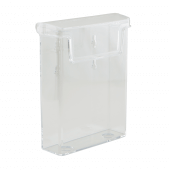 Leaflet holder for outdoor use in 1/3 A4, A4 and A5 sizes
