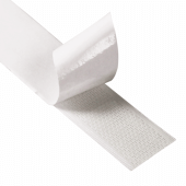 Hook and loop tape roll with adhesive backing (sides supplied separately)