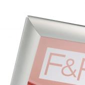 Silver Backless Snap Frame front corner