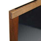 The frame is made from dark oak stained wood