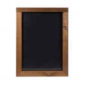 This chalkboard frame has a stylish dark oak finish ideal for restaurants