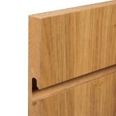 Slatwall panel grooves